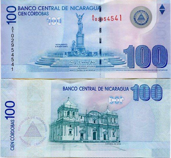100 Córdobas Nikaragua 2009