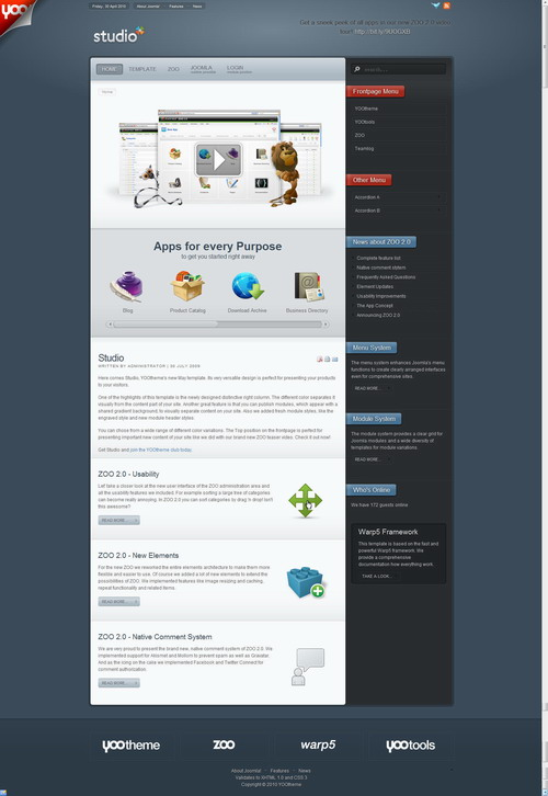Studio   May 2010 Joomla Template
