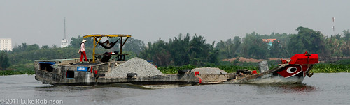 Longboat on the Saigon River