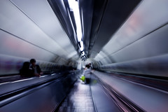 Sucked under (steven_kelly | www.steven-kelly.co.uk) Tags: people abstract motion blur london race underground rat escalator tube down stevenkellyphotography
