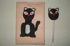 Lembrancinhas do aniversário de de minha filha, cadernos com lápis combinando com decoração de bichinhos de feltro (Cláudia Sarti) Tags: de para os com feltro lápis capas cadernos combinando ponteiras