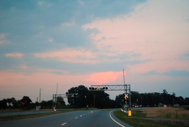 pink cloud/railroad