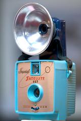 Blue Mercury Satellite 127 Camera (c. 1964) (Chris Seufert) Tags: camera blue museum gallery mercury capecod chatham vintagecollection chrisseufert satellite127camera
