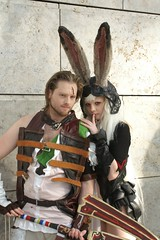 Basch + Fran, Final Fantasy XII (cosplay shooter) Tags: costumes anime comics costume comic cosplay manga fran leipzig final fantasy convention cosplayer finalfantasy xii rollenspiel buchmesse bookfair roleplay basch lbm leipzigerbuchmesse 8000z 7500z x201604