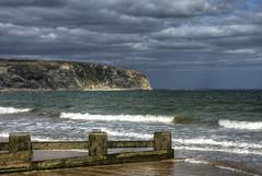 Seaside: Cliffs (Tim Blessed) Tags: uk sea sky nature clouds landscapes seaside scenery waves cliffs dorset beaches swanage blueribbonwinner singlerawtonemapped