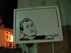 mini-valla (nadie en campaña) Tags: stencil billboard menorca valla plantilla nadie