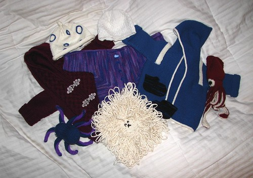 Infant X's knitterly haul