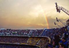 Tierra Santa II / Holy Land II (Pankcho) Tags: sunset sky argentina arcoiris atardecer football rainbow buenosaires stadium soccer explore sanjuan estadio cielo laboca 12 futbol boca bocajuniors bandejas bombonera sanmartn tribuna grada cabj bosteros xeneizes albertojarmando