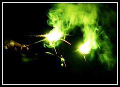Vishu (Midhun Manmadhan) Tags: green night fun smoke vishu canonpowershots3is