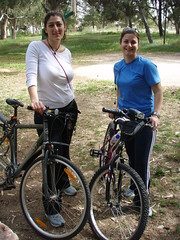 Me and Eleni (xwtiko) Tags: trees tree nature bicycle friend ride xania chania  podilato   podilata