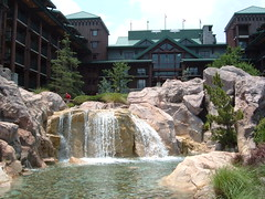 Waterfall at Wilderness Lodge Walt Disney World