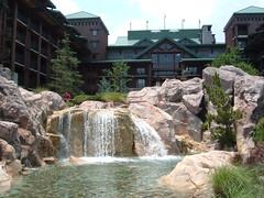 Waterfall at Wilderness Lodge Walt Disney World