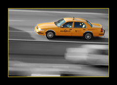 Speeding Yellow Cab! by NYC nikonian007