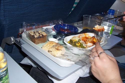 Cena en el avión