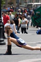 Isis Masoud Warming Up in Union Square, NYC (thepolitegirls) Tags: nyc sexy subway dancers sassy pole dare unionsquare isis polite masoud darejunkies poleitegirls