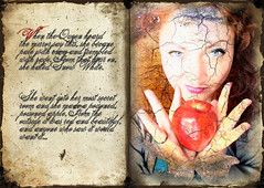 Fairytale (Silvie Murrey) Tags: selfportrait me apple fairytale book textures fantasy snowwhite picturesque aod artisticexpression wickedqueen goldstaraward bestflickrphotography