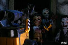 Wall-E Meets the Mez-itz (Boogeyman13) Tags: jason monster werewolf toy toys actionfigure robot scary witch vampire leatherface disney pixar scifi horror sciencefiction fridaythe13th mcfarlane thirteenth texaschainsawmassacre mezco