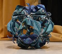 blue arabesque (ohhmyhead) Tags: origami arabesque kusudama