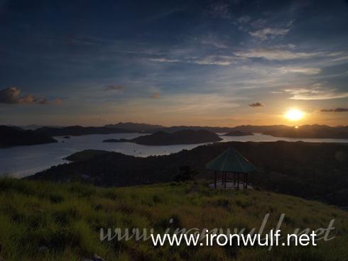 Coron Bay island sunset view