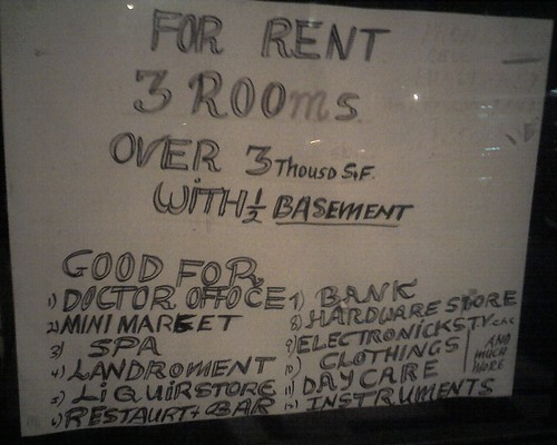 For Rent, Three Rooms