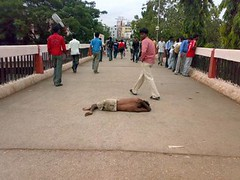 Mother Earth i sleep on thou lap (M.a.h.S) Tags: life street india contrast sad bangalore poor compassion beggar destiny reality choice capture karnataka majestic footpath apathy empathy mahs busstand kempegowda lackofbasicamneties superpoorinthemaking n73mobile mahsworld