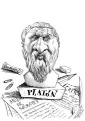 PLATN (Morales de los Ros) Tags: writers caricaturas philosophers caricatures escritores filsofos