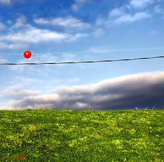 ⿳ / RGB (Erik K Veland) Tags: blue winter red summer sky mountain green nature grass clouds composition ball square aperture colours phi crystal vivid ps clear powerlines round saturation unreal shape rgb pp goldenratio ruleofthirds postprocessing colourlicious viveza francescabentley