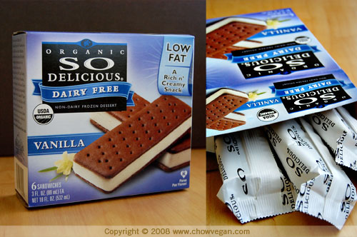 So Delicious Ice Cream Sandwiches