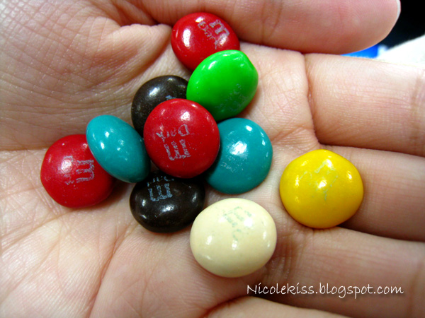 colorful dark m&m