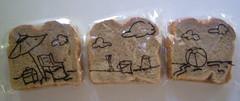 Beach scene (D Laferriere) Tags: sandwich bag art laferriere lafney attleboro drawing sharpie drawrs sandwichbagart sandwichbagdad