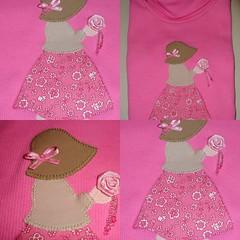 Menininha de chapu (Claudia Abbondanza) Tags: child quilt handmade artesanato tshirt infantil crianas camiseta camisetas tecido bordado aplicao aplicaes customizao caseado termocolante cludiaabbondanza