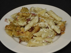 blue cheese and bacon mac and cheese