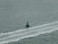 Watching the buoys (prondis_in_kenya) Tags: ocean cruise getaway solent sailaway queenelizabeth2 cunard qe2 buoy liner buoyant