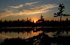 Sundown at Lily Lake (BigSkyKatie) Tags: road county pink sunset orange sun mountain lake reflection nature silhouette set clouds landscape mirror evening lily sundown natural meadows idaho elk fiery bigskycountry lilylake aplusphoto idahocounty spiritofphotography katielasallelowery elkmeadowsroad