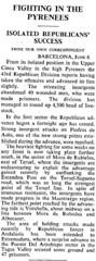 Article del diari The Times, del 7 de Juny de 1938. On surt Vistabella del Maestrat
