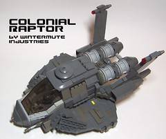 When the Gauntlet goes down . . . (onosendai2600) Tags: lego raptor moc bsg chieflug chiefluginitiation thismademyheadhurt wintermuteindustries