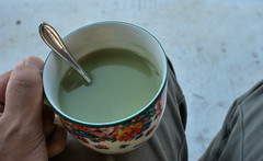 Not My Cup Of Tea (enggul) Tags: cup hand tea 24mm teabreak grip greentea cupoftea milktea teaspoon