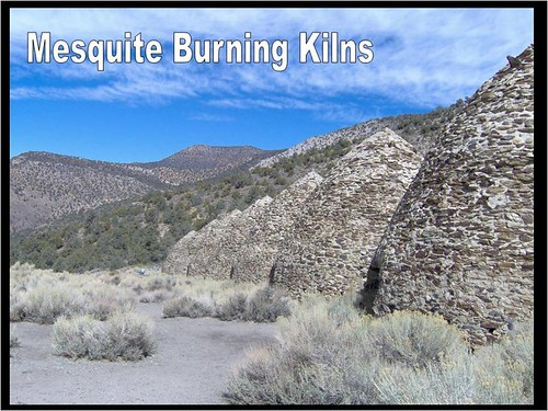 Kilns (built originally in 1867, restored in 1971) used to slow-burn wood down to charcoal. The charcoal was then used for smelting and ore extraction in the many mines of Death Valley.