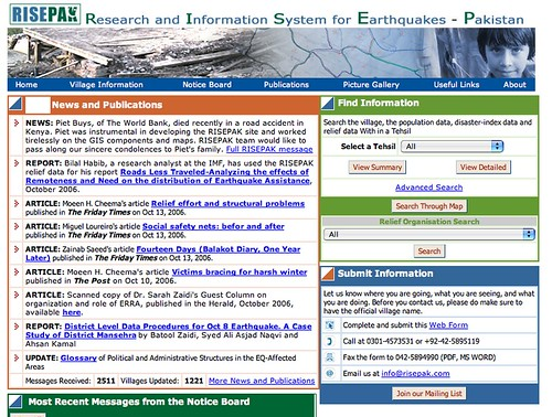 Risepak Earthquake Disaster Management Online Communication System