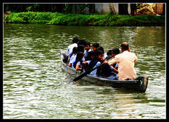 School Boat (Midhun Manmadhan) Tags: girls kerala greenery backwaters boatman alappuzha schoool schoolboat