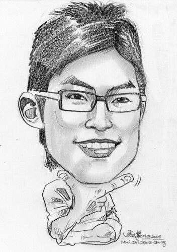Caricature in pencil 07