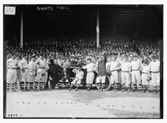 [New York Giants at the Polo Grounds [New York] prior to Game One of the 1912 World Series, October 8, 1912 (baseball)]  (LOC) (The Library of Congress) Tags: car al automobile baseball redsox libraryofcongress nl 1912 bostonredsox worldseries mvp americanleague pologrounds nationalleague newyorkgiants mostvaluableplayer larrydoyle xmlns:dc=httppurlorgdcelements11 1912worldseries 1081912 dc:identifier=httphdllocgovlocpnpggbain11754 chalmersaward newyorkbaseballgiants