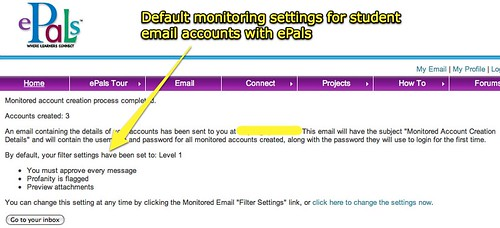 Monitored Email Accounts Created