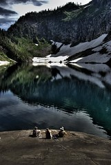Lake Serene Hang Out (bade_md) Tags: mountains washington hiking cascades alpinelake lakeserene northerncascades