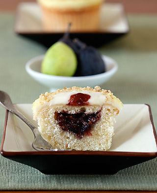 ... recipe) - Vanilla Bean Fig Cupcake with Orange Blossom Honey Frosting