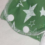 Medium serged Fattycakes pocket fitted diaper *scribbled stars french terry*