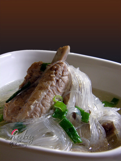 pork riblet and vermicelli soup