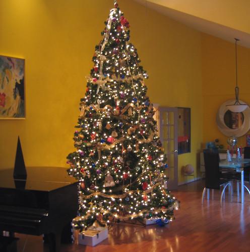 20051225 - Christmas Day - Stafford - Christmas Tree - main room ...