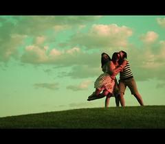 (morgan.laforge) Tags: blue summer sky green field grass clouds kennalaforge katelaforge julieborovetz
