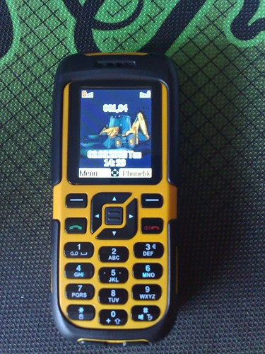 The JCB Toughphone logged onto the Teleware PMN